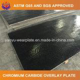Plaque bimétallique d'usure avec le recouvrement de carbure de chrome