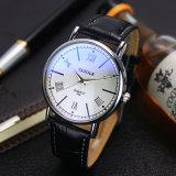 Relojes impermeables del amante de la aleación simple ocasional de la manera del reloj del asunto de los pares H313