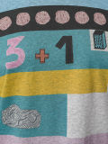 カスタムLadieの混合されカラーによって模造されるTシャツ