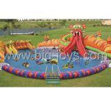膨脹可能な娯楽水公園、膨脹可能な水スライドのプールのゲーム(BJ-WT11)
