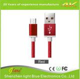 Высокое качество 2.4A 2 в 1 микро- кабеле USB