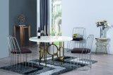 4のための椅子が付いている円形のダイニングテーブルセット