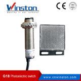 G18 Infrarode Sensor van de Nabijheid van het Type van Retroreflictive de Foto-elektrische