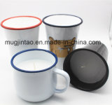 Чашка эмали с чашкой Tumbler чашки свечки Tableware свечки