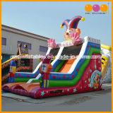 Het openlucht Gazon past de Gelukkige Opblaasbare Dia van de Pret van de Clown voor de Partij van Jonge geitjes aan (AQ01396)