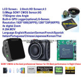 "2017 2.0 "" Novatek 96660 차 DVR 의 G 센서, 야간 시계, 통제 차 대시 디지털 주차 비디오 녹화기를 가진 가득 차있는 HD 1440p 차 비행 기록 장치 사진기"