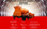 Calcestruzzo mobile che si mescola trasportando il macchinario della pompa per il progetto di costruzione