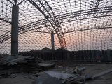Ферменная конструкция решетки стальной структуры крыши парка воды