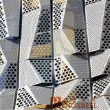 O painel de alumínio perfurado para o folheado da parede/perfurou o revestimento de alumínio