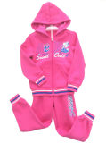 Children에 있는 겨울 Fleece Kids Girl Sports Wear Suit 's Clothing Swg 136
