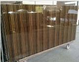 Tarjeta ULTRAVIOLETA del MDF de la melamina de madera del grano para la cabina