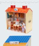 modelo de papel del departamento del almacén del rompecabezas 3D