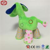 Het leuke Stuk speelgoed van de Pluche van de Gift van de Hond Grappige Groene Kleurrijke voor Jonge geitjes
