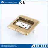 Typen Fußboden-Kontaktbuchse-Messingfußboden-Netzdose öffnen