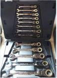 o jogo da chave combinada de chave de catraca 13PCS (tamanho métrico & tamanho da polegada) personalizou o jogo da chave inglesa
