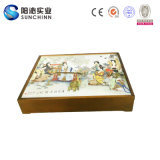 Scatola da pasticceria di legno tradizionale cinese della luna del carattere femminile (SCMC00001)