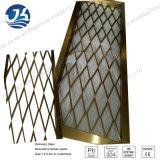 Rosen-Golddekorative Raum-Teiler-Edelstahl-Laser-Schnitt-Blatt-Partition