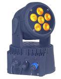LEDの照明のための6PCS 6in1の洗浄移動ヘッドライト