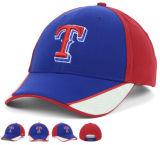 100% Baumwolle, 3D-Stickerei-Weiß-Logo-Baseballmütze
