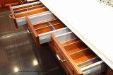 Gabinete de cozinha clássico da madeira contínua do revestimento do abanador