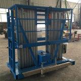 Luftarbeit-Doppelt-Mast-anhebender Plattform-Aluminiumlegierung-hydraulischer Aufzug