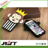 Caixa encantadora do telefone de pilha do silicone do projeto do macaco para o iPhone 6