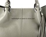 La borsa di cuoio grigia alla moda di ultimo modo