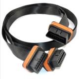 OBD2 16 Kabel van de Uitbreiding van 1 tot 2 Splitser van de Speld de Vlakke