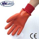 Nmsafety перчатка работы безопасности PVC пользы зимы 3 слоев покрытая