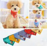 Bandana del cane stampato cotone del collare del gatto della sciarpa dell'animale domestico