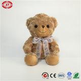O luxuoso bonito do brinquedo do presente da menina da fita encheu o urso macio da peluche