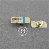Diamond (GZHY-LP-031)를 가진 크라운 Shape Lapel Pin Brass Badge