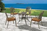 Neue Auslegung-stapelbare verwendete Gaststätte-Gussaluminium-Möbel