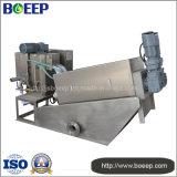 Máquina de desecación de la prensa de tornillo en depuradora de aguas residuales de la lechería
