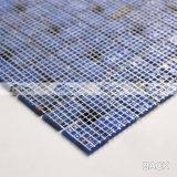 青い風車パターン溶けるガラスモザイク・タイル(BGZ016)