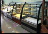 De dubbele Temperatuur Gebogen Koelkast van de Vertoning van de Cake van het Glas
