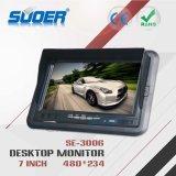 Suoerの工場価格7のインチTFT LCDのデスクトップのモニタDC 12V/24V表のタイプ車のモニタ(SE-3006)