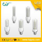 고품질 6000k 2u 8W E27 유리제 LED 옥수수 빛