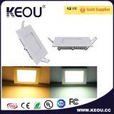 el panel cuadrado de 6W 9W 12W 15W 18W LED