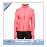 Куртка износа гимнастики Sportswear женщин идущая с изготовленный на заказ логосом
