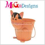ローズ赤いFoxの鉄プランター鍋の安く美しい庭の装飾