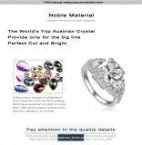 De originele Nieuwe Vierkante Fijne Giften van de Juwelen van het Merk van de Luxe van de Ringen van de Diamanten bruiloft van CZ van de AMERIKAANSE CLUB VAN AUTOMOBILISTEN van de Ring van het Ontwerp Yunkingdom Witgoud Geplateerde Gevulde