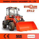 Everun Brand CER Approved 1.2 Ton Mini Wheel Loader mit Snow Blower