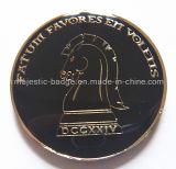 Покрынная золотом мягкой монетка возможности лошади эмали подгонянная эпоксидной смолой