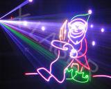 O laser mostra o projetor do laser do clube do sistema