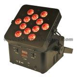 PARIDADE a pilhas sem fio 12X8w RGBW 4 in-1 do diodo emissor de luz de DMX