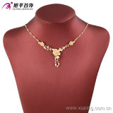 Environmental Copper Alloy 42714のXuping最も熱いFashion Jewelry 18kの金Plated Flower Women Necklace