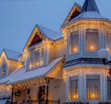 Indicatore luminoso della stringa del ghiacciolo della decorazione dell'albero di Natale di festival
