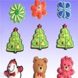 Jouet en plastique de Noël de décoration de culbuteur d'injection en caoutchouc de dessin animé