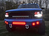 voor van het LEIDENE van de Jeep Peulen van de Afstandsbediening Werk van de Peul de Lichte Offroad RGB met Halo